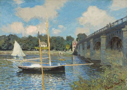 Monet, Claude: The Bridge at Argenteuil. Fine Art Print/Poster. Sizes: A4/A3/A2/A1 (003565)